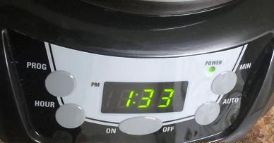 coffee maker control panel