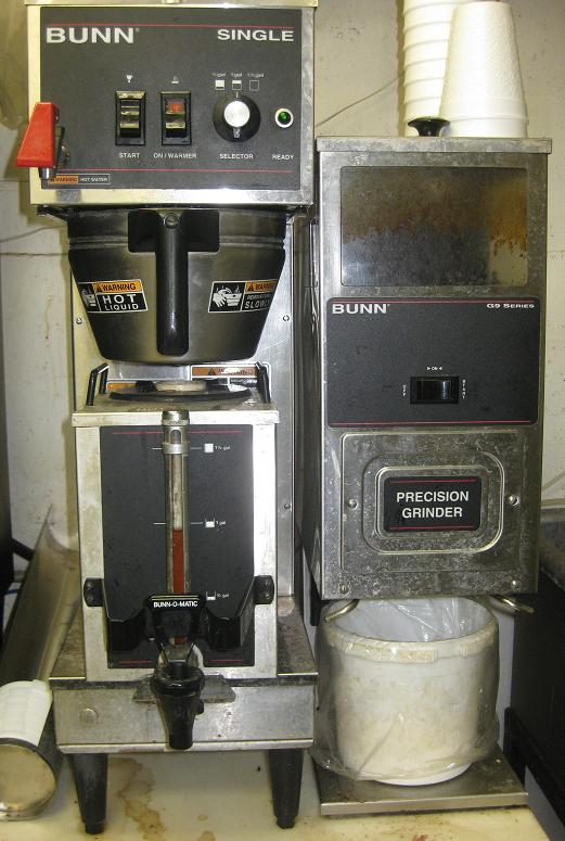 commercial coffee brewer and grinder